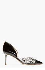 SOPHIA WEBSTER Black Lace Miranda D'orsay heels for women
