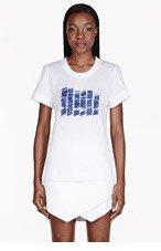 MAIYET White & blue Beaded T-shirt for women