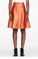 CARVEN Orange Belted A-Line Skirt for women