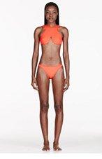 DION LEE Orange Neoprene Cut-Out Purity Bikini for women