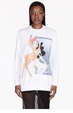 GIVENCHY White Bambi Crewneck Sweater for women