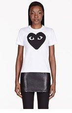 COMME DES GARÇONS PLAY White Heart Emblem T-Shirt for women