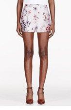 STELLA MCCARTNEY Pink Flower Print pleated Shorts for women