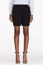 CARVEN Black Technical Crepe shorts for women