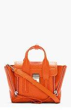 3.1 PHILLIP LIM Orange embossed Pashli Mini Satchel for women