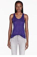 ACNE STUDIOS Purple Zaar Linen Tank Top for women