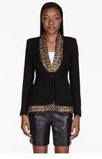 ALTUZARRA Black Sequined Layered Blazer for women