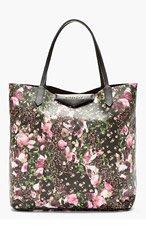 GIVENCHY Pink Canvas Floral camo Medium Antigona Shopping tote for women