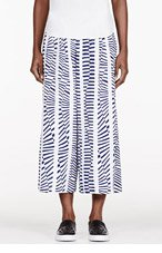 MAIYET White printed & cropped wide-legged trousers for women
