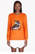 CARVEN Orange Banana Appliqu� Sweater for women