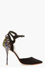 SOPHIA WEBSTER Black Leopard Print Penelope d'orsay heels for women