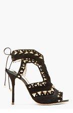 SOPHIA WEBSTER Black & gold Riko Stud heels for women