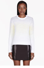 PROENZA SCHOULER White Ombre Honeycomb sweater for women