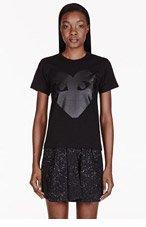 COMME DES GARÇONS PLAY Black Front & back Heart print T-Shirt for women