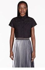 PROENZA SCHOULER Black Cropped Buttoned Blouse for women