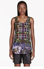 CARVEN Blue Printed Tank Top for women