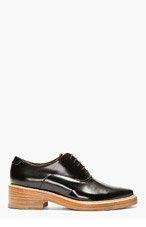 ACNE STUDIOS Black Leather Carla Oxfords for women