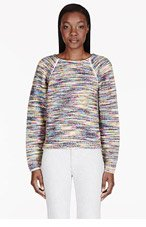 CHLOE Yellow MULTICOLOR marled sweater for women