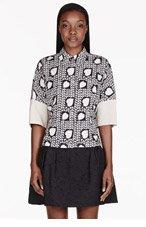 STELLA MCCARTNEY Black & Beige Heart Print Panelled Blouse for women