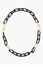 MAIYET Gold & Black Horn Link Necklace for women