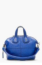 GIVENCHY Royal Blue Leather Nightingale Shoulder Bag for women