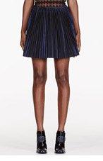 MAIYET Navy stiff Pleat Short Skirt for women