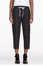 3.1 PHILLIP LIM Black silk polka dot Pleated Peg Trousers for women