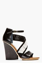 MAIYET Black beaded & embroidered Wedge Sandals for women