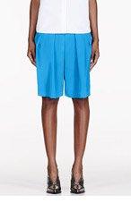 ALTUZARRA Blue pleated Poet shorts for women