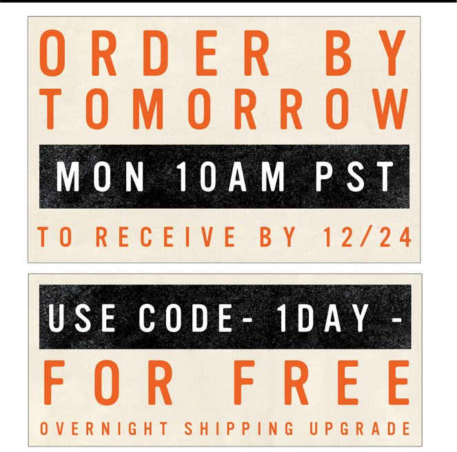 Order by MON 10 am | In time for 12/24