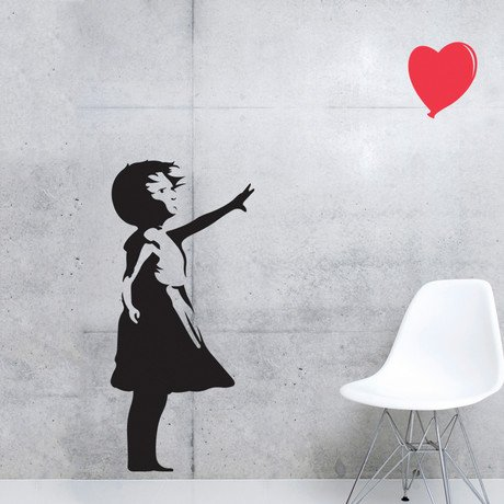 Banksy Love Floats Wall Decal