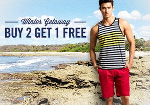 Shop Winter Getaway: Buy 2 Get 1 Free