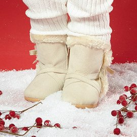 White All Winter: Kids' Shoes