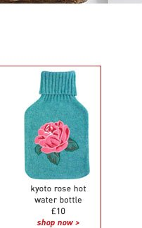 kyoto rose hot water bottle