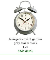newgate covent garden grey alarm clock