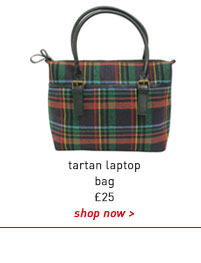 tartan laptop bag