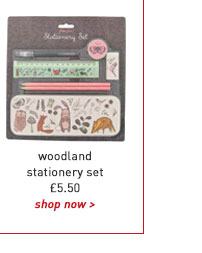 woodland stationery set