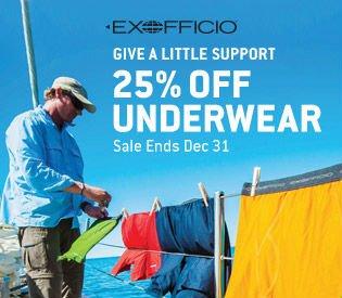 25% Off ExOfficio Underwear
