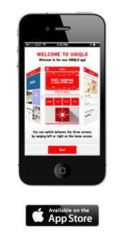 INTRODUCING THE NEW UNIQLO IPHONE APP