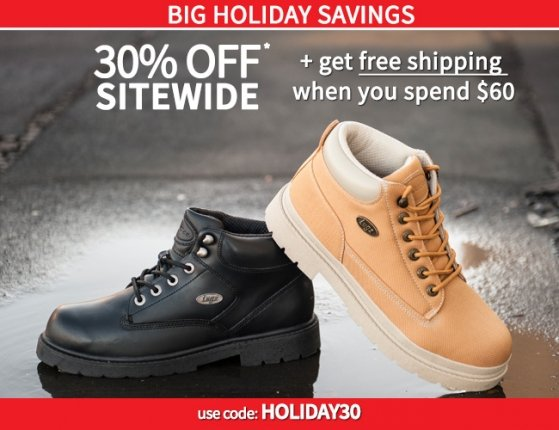 Big Holiday Savings – 30% plus Free Shipping