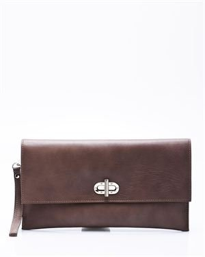 Made in Italia Posillipo Genuine Leather Clutch - Made in Italy