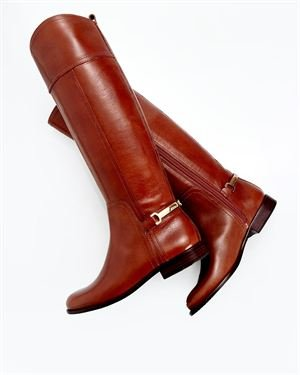 Tory Burch Leather Buckle Boots