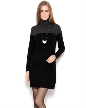 Lu Vic & Beau Colorblock Cashmere Sweater Dress