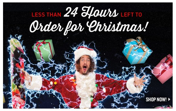 Less Than 24 Hours Left to Order for Christmas!