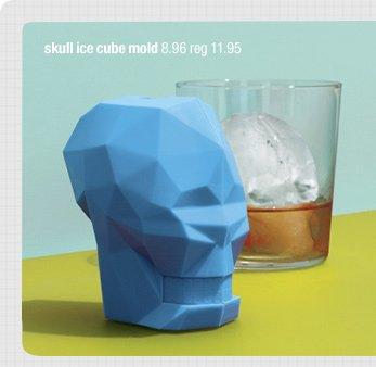 skull ice cube mold 8.95 reg 11.95