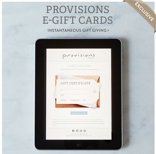 Provisions E-Gift Cards