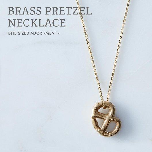 Brass Pretzel Necklace