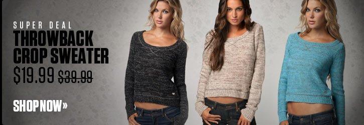 Throwback Crop Sweater