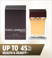 Up to 45% off Health & Beauty