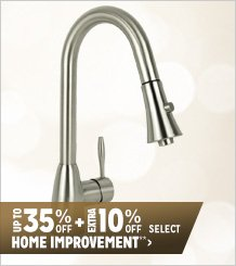 Up to 35% off + Extra 10% off Select Home Improvement**